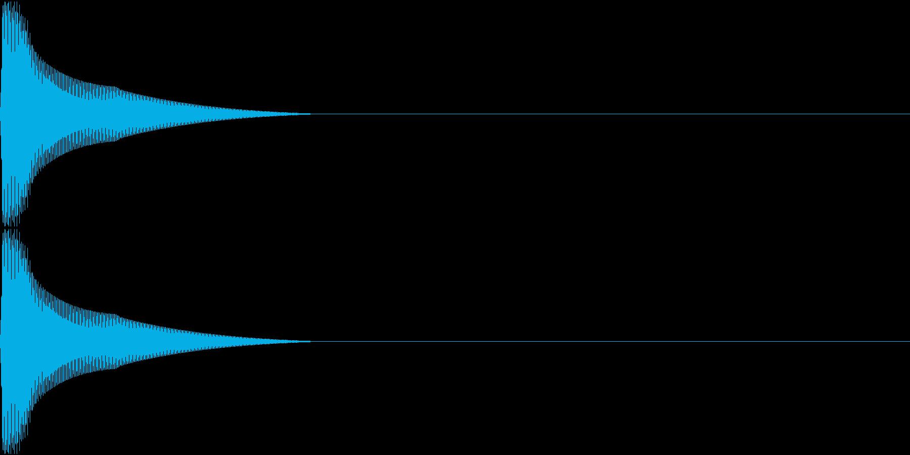 PureTouch アプリ用タッチ音 8の再生済みの波形