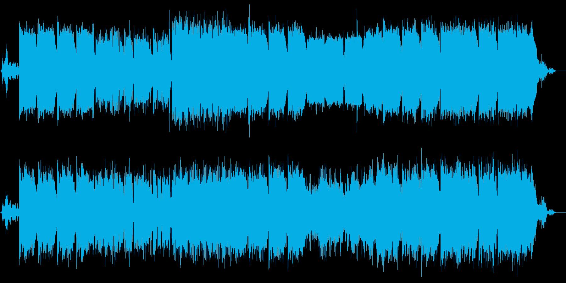 大自然の中にいるようなアンビエントBGMの再生済みの波形