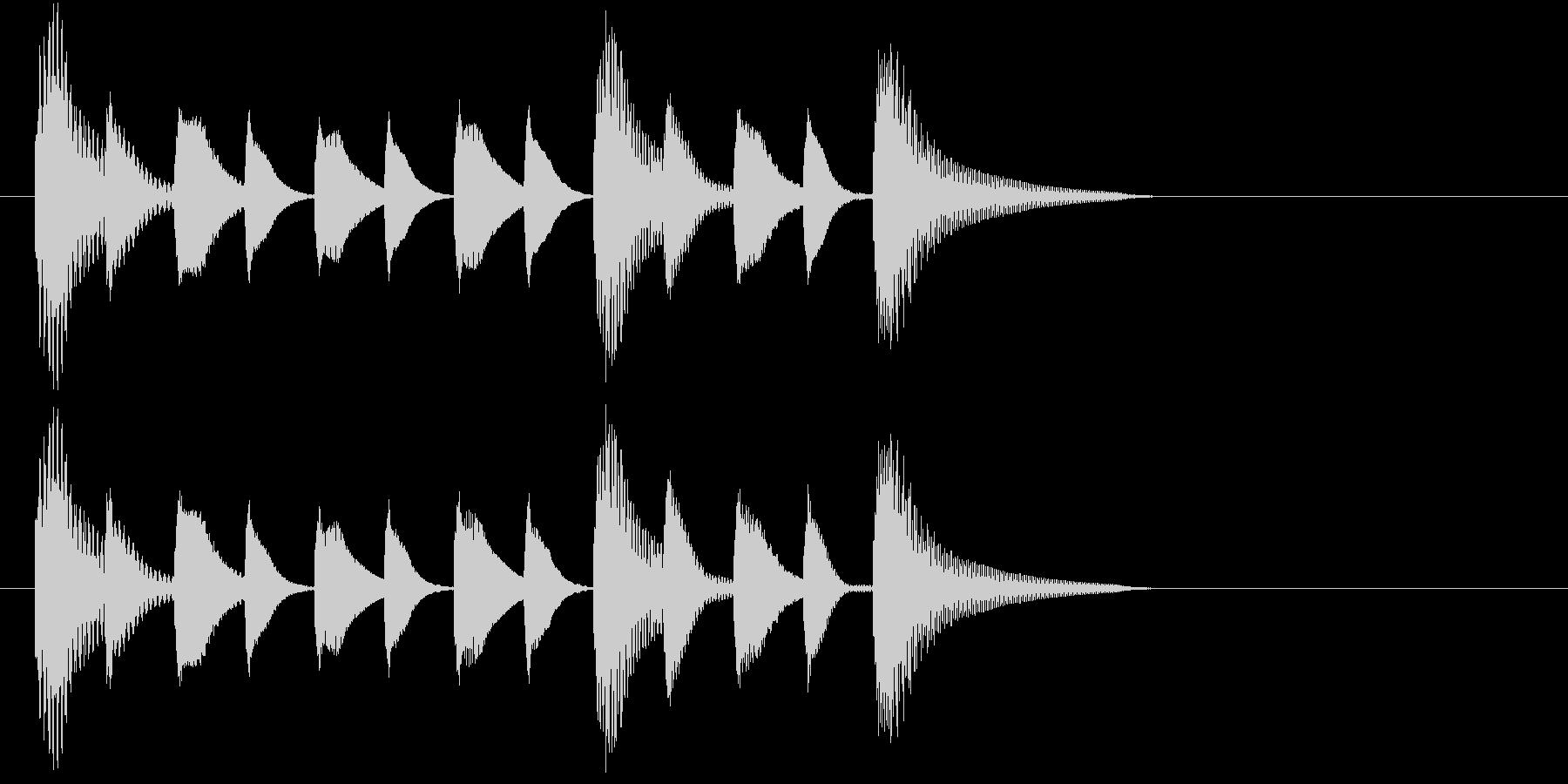 ほのぼのとした短いジングルの未再生の波形
