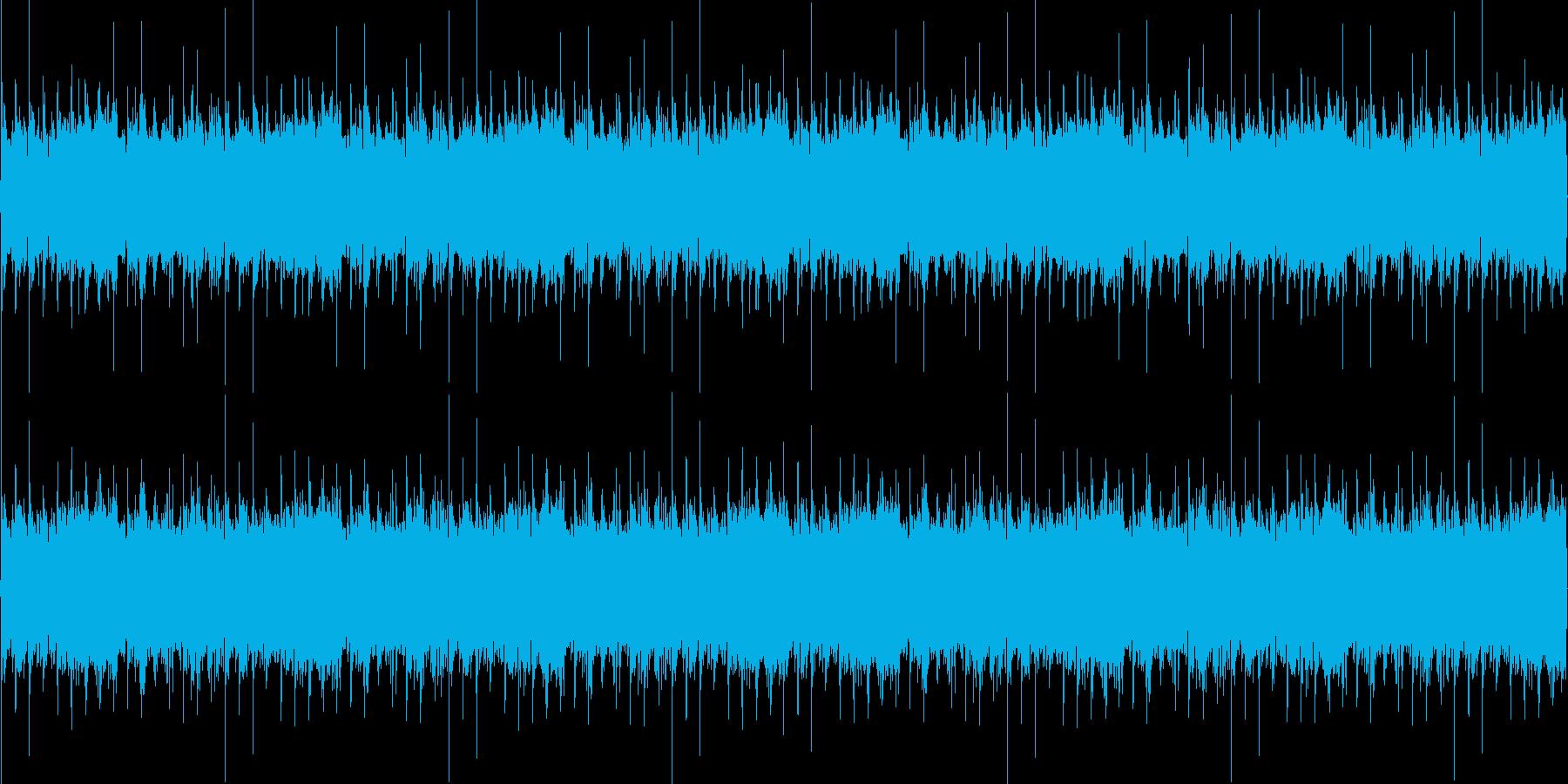クラブなどで使えるダンスBGMの再生済みの波形