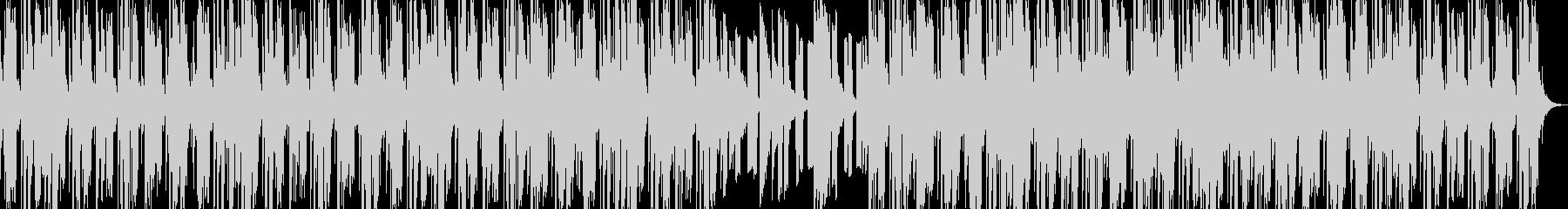 DUB調のピアノ曲の未再生の波形