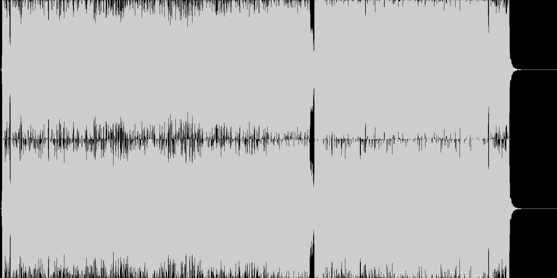 ゲーム用戦闘曲ハードロック1の未再生の波形