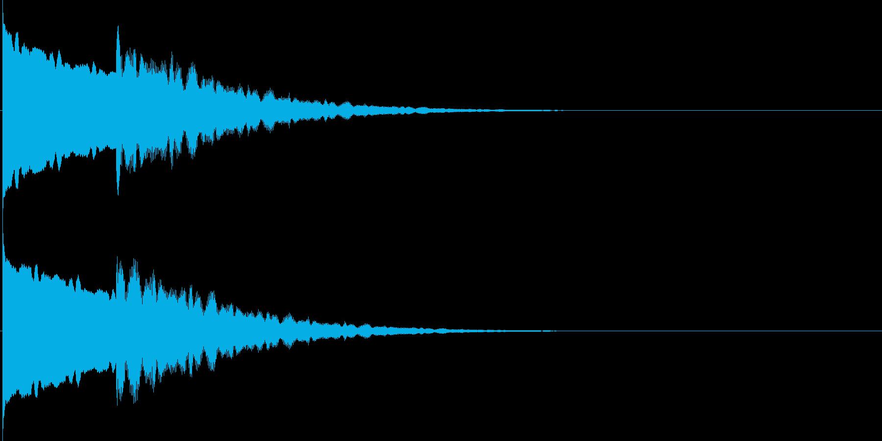 コ~ン..。のど自慢風の鐘(不合格)の再生済みの波形