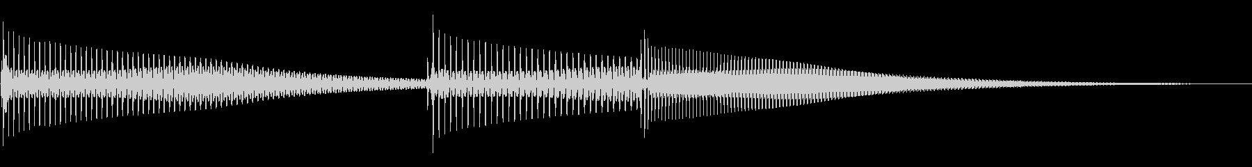 ピンポパン(PCの起動音)の未再生の波形