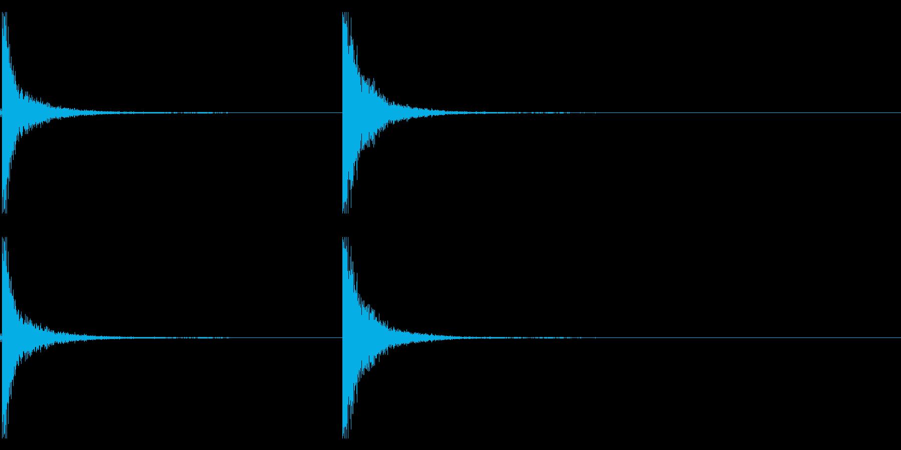 つるはし音(カンッカンッ)の再生済みの波形