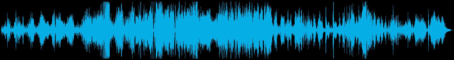 生演奏によるジャズのピアノ曲の再生済みの波形