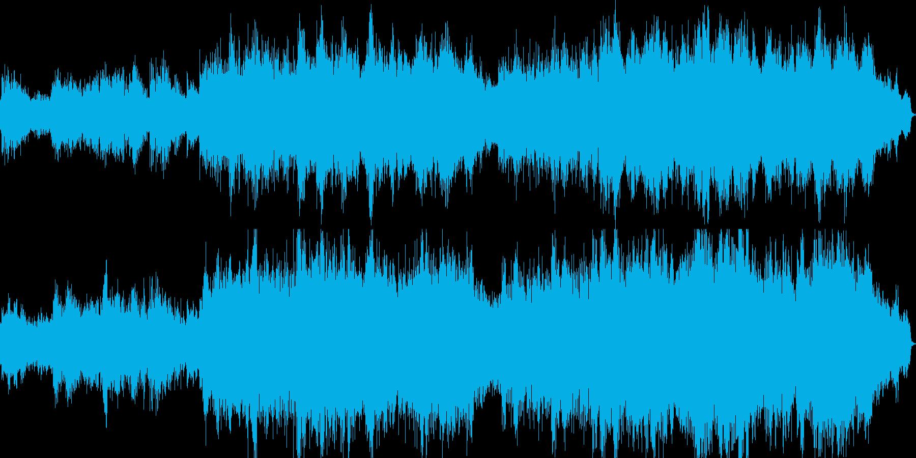日本の音階を使ったヒーリングミュージックの再生済みの波形
