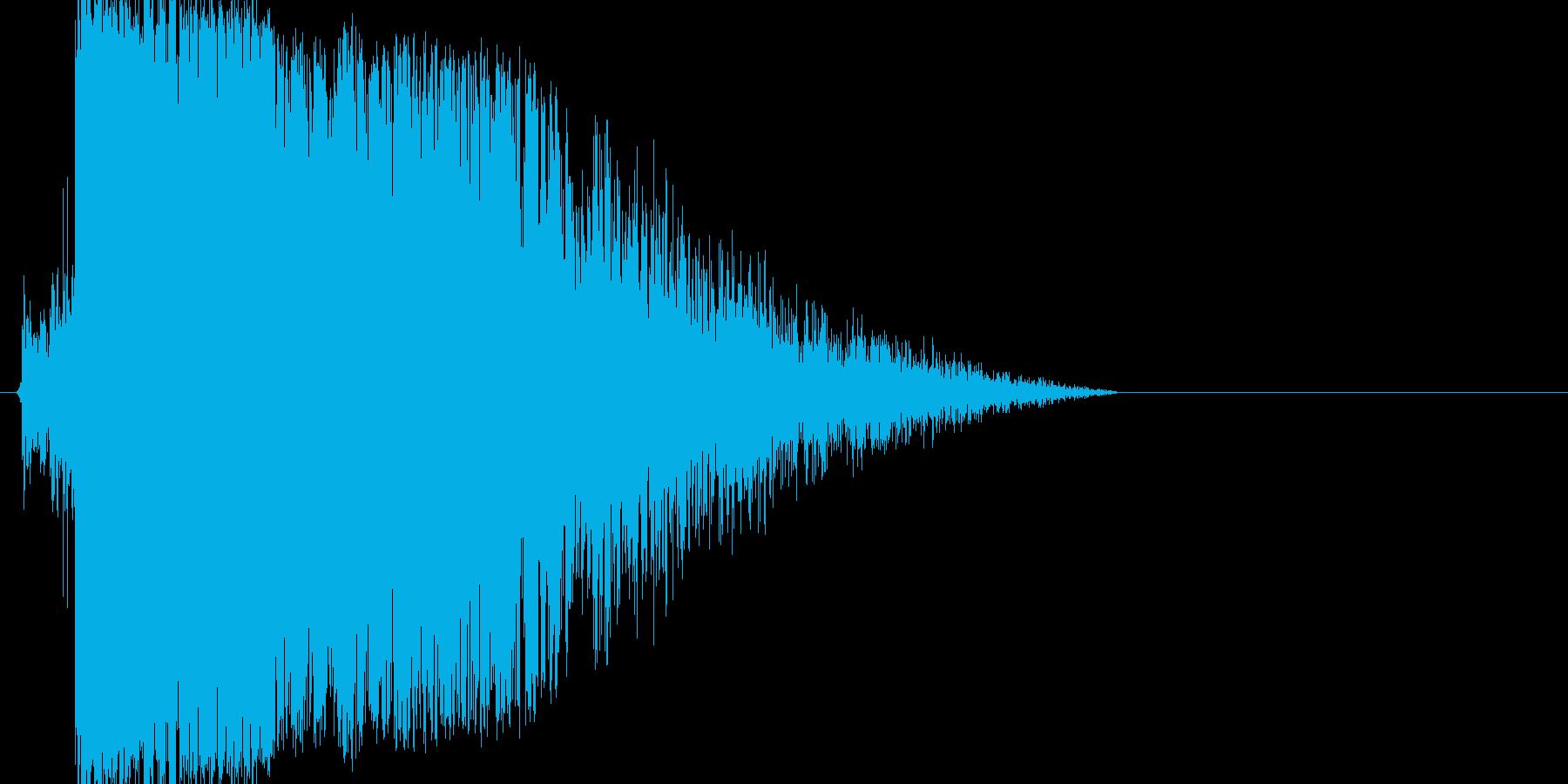 キュイン!というインパクトのある効果音の再生済みの波形