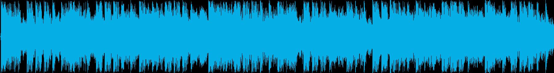 冬をイメージしたエレクトロポップスの再生済みの波形