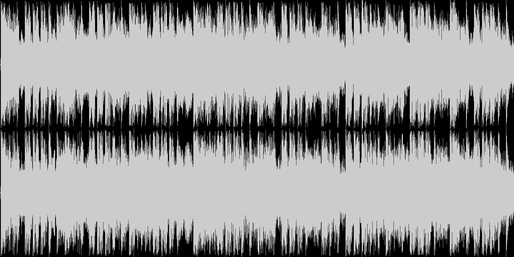 冬をイメージしたエレクトロポップスの未再生の波形