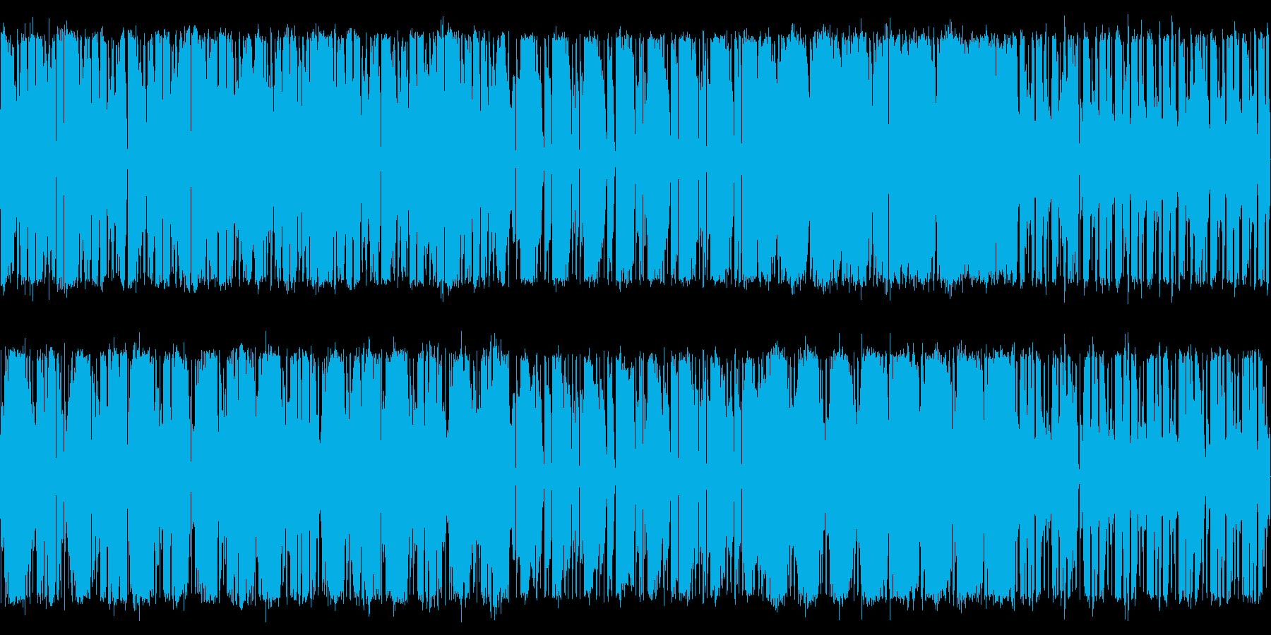 EDMっぽいメニュー画面の再生済みの波形