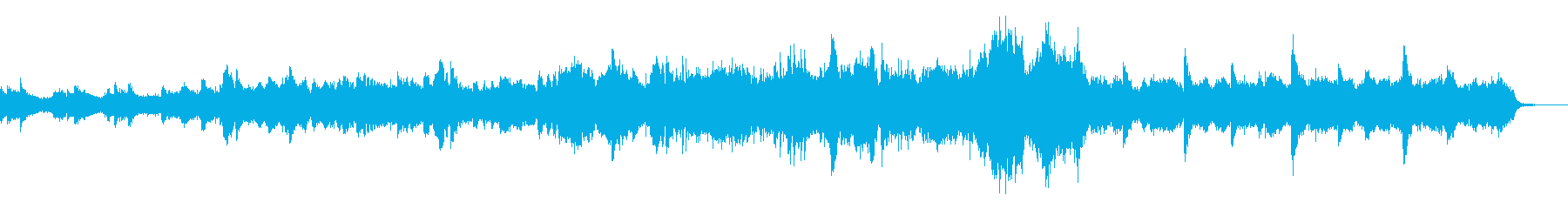 ドラマ等のシリアスなシーンに適した楽曲の再生済みの波形