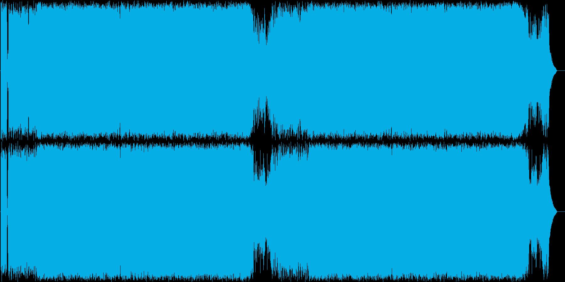 バトル風 ヘビーメタル01の再生済みの波形