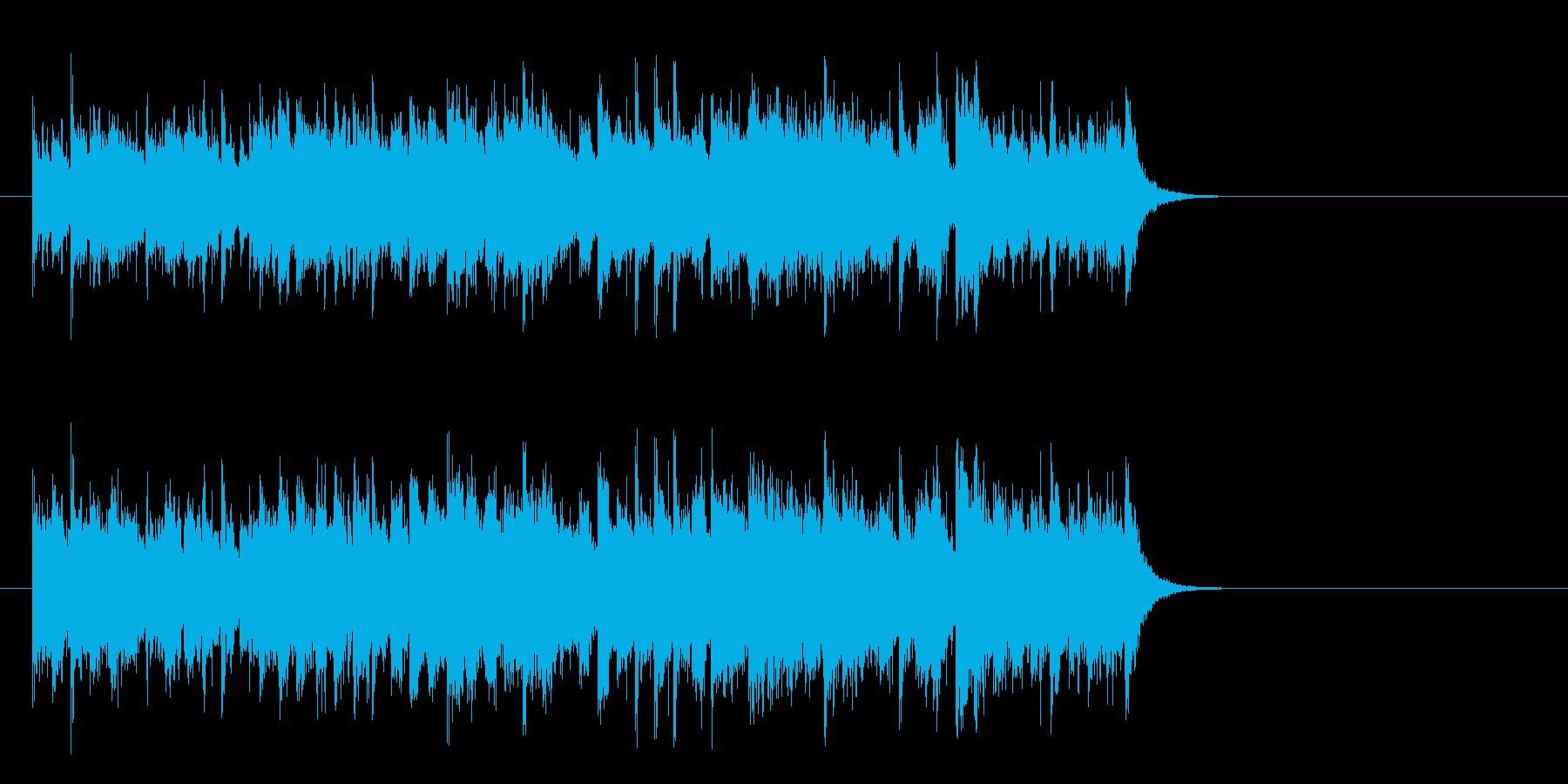 軽快なガールズポップス(サビ)の再生済みの波形