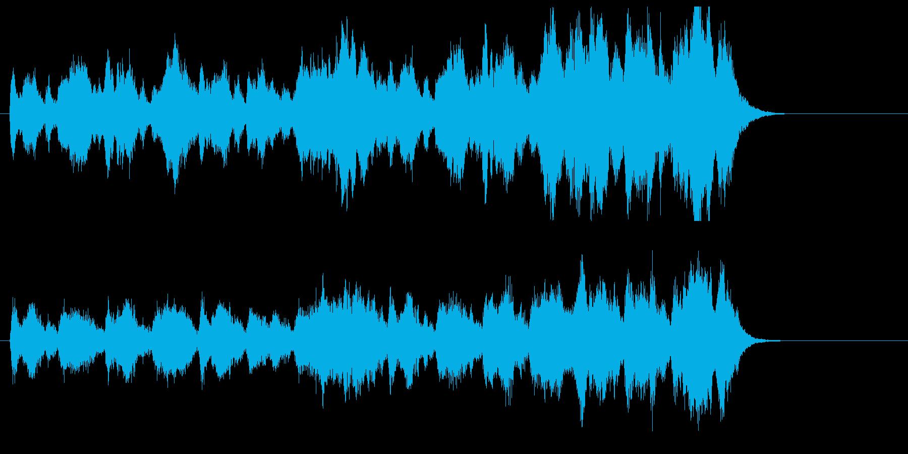 まったりと緩やかなポップジングルの再生済みの波形