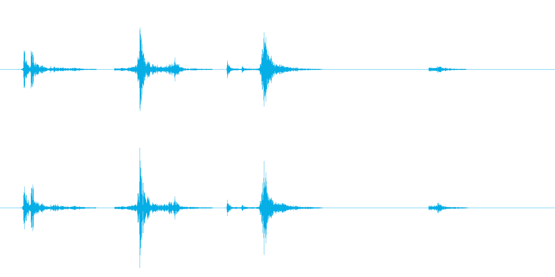 カセットテープ ケース開閉音の再生済みの波形