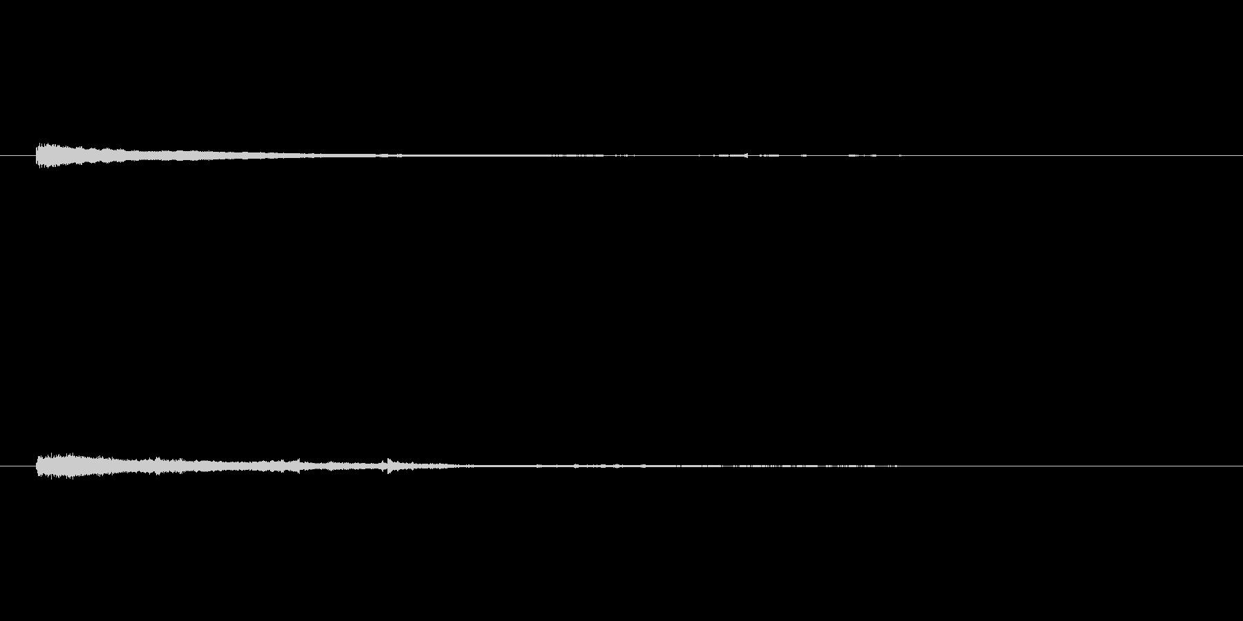 シンセコードによるサウンドロゴ3の未再生の波形