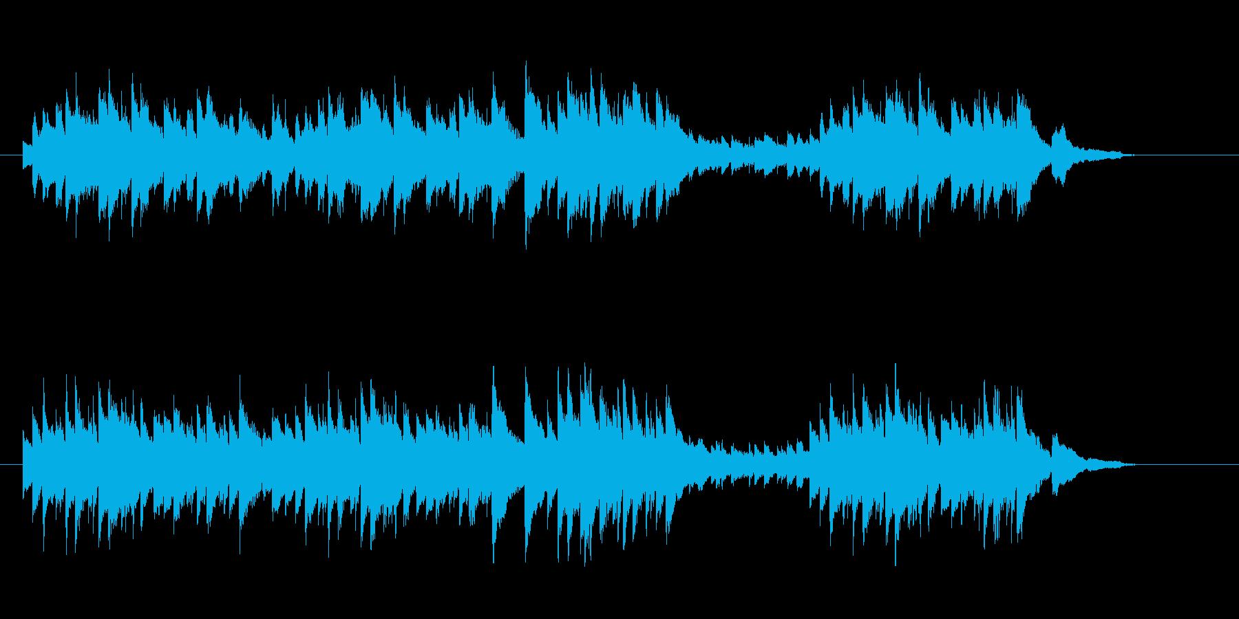 ピアノのワルツの再生済みの波形