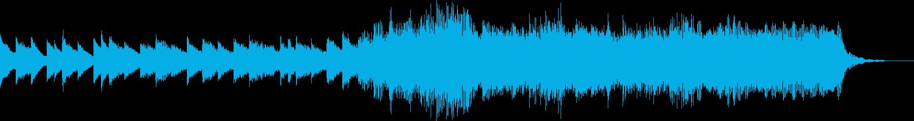 ファンタジーなジングルっぽい楽曲の再生済みの波形