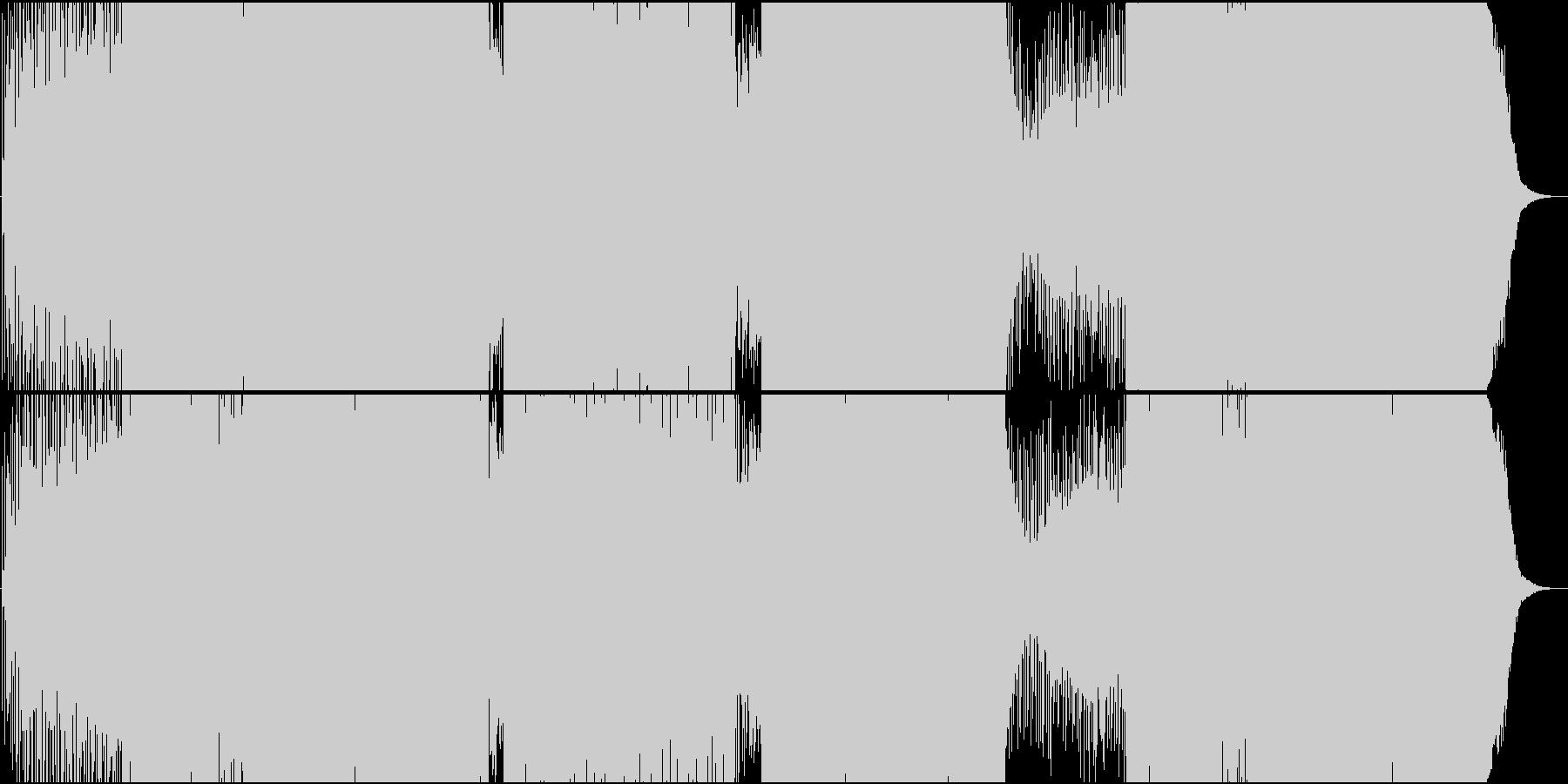 EDM映像用トランス系静かで爽やか楽曲の未再生の波形