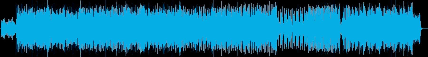スピードと迫力のシンセ・ギターなどの曲の再生済みの波形