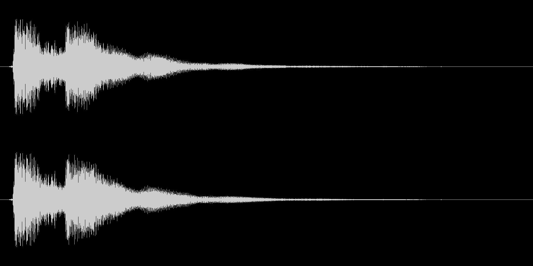 【早押しボタン01-1】の未再生の波形