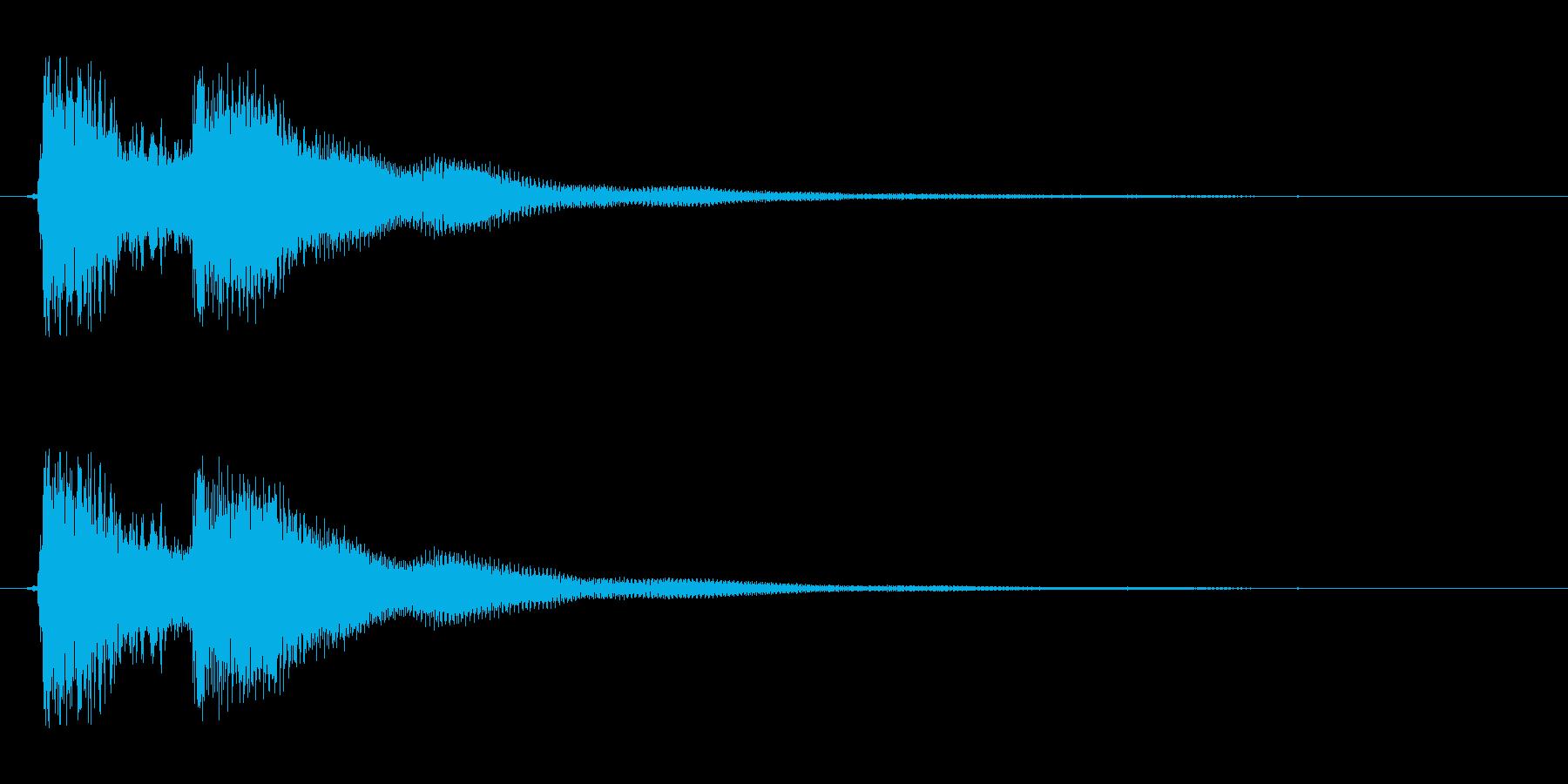 【早押しボタン01-1】の再生済みの波形