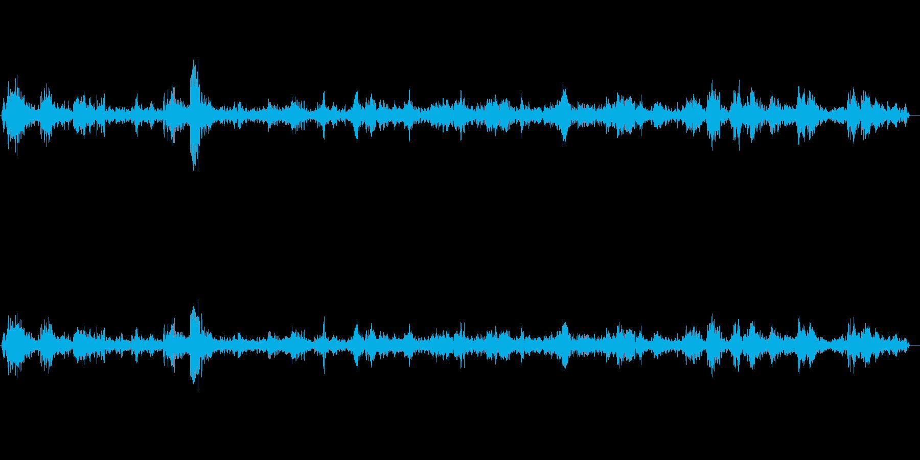 プワプワ(泡が出来る音)の再生済みの波形