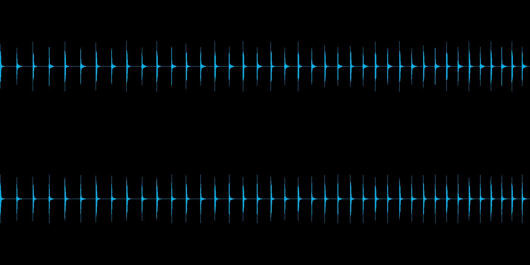 チッチッチ:早くなる秒針の音の再生済みの波形