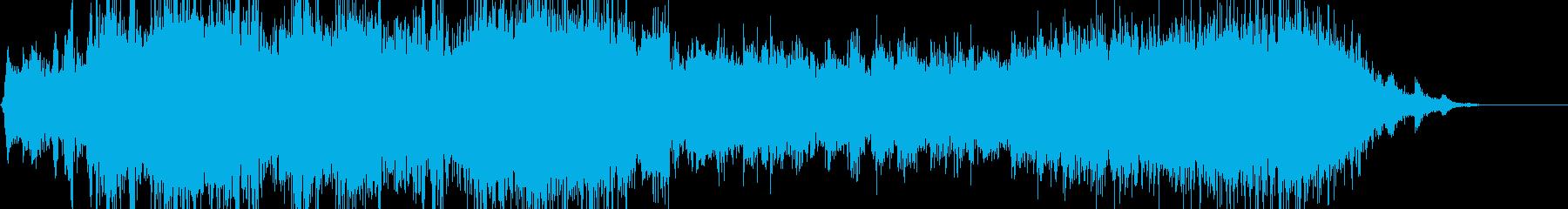両左右の電車が行き交う音(自然音)の再生済みの波形