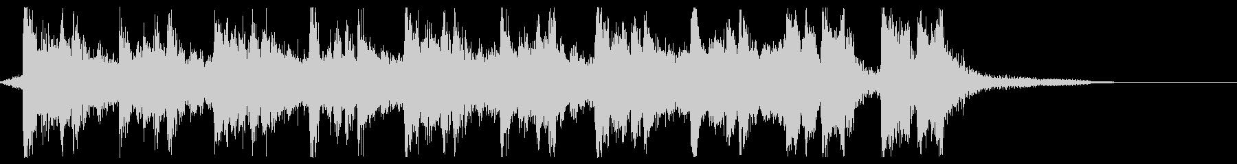 ハリウッド系アイキャッチの未再生の波形
