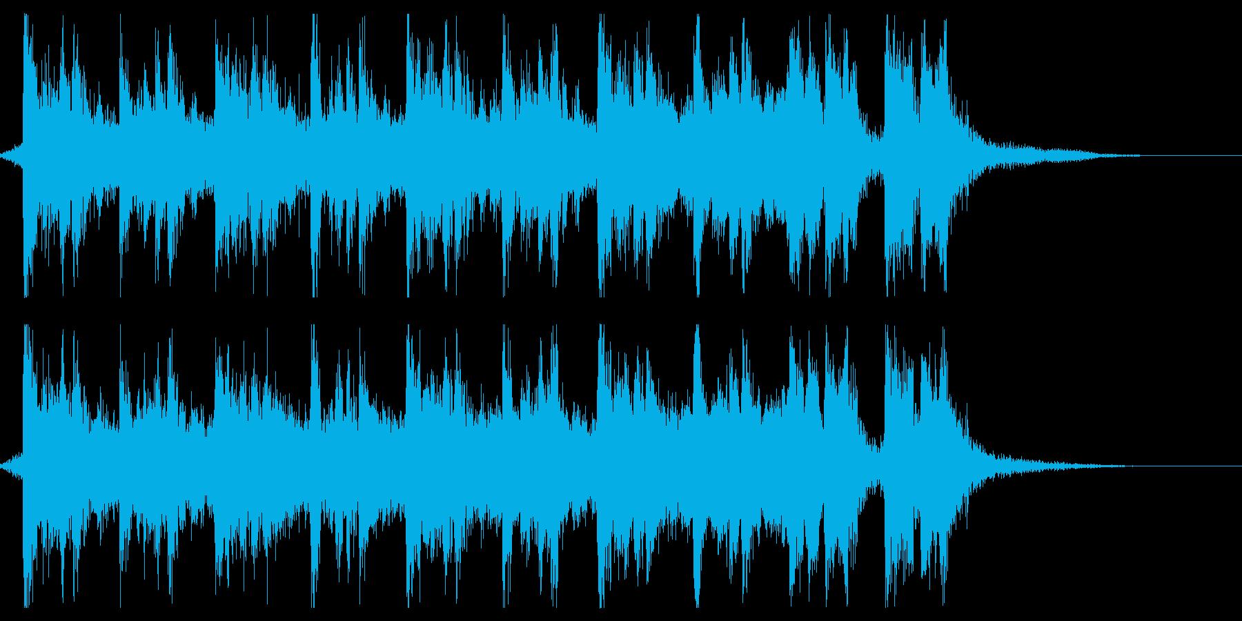 ハリウッド系アイキャッチの再生済みの波形