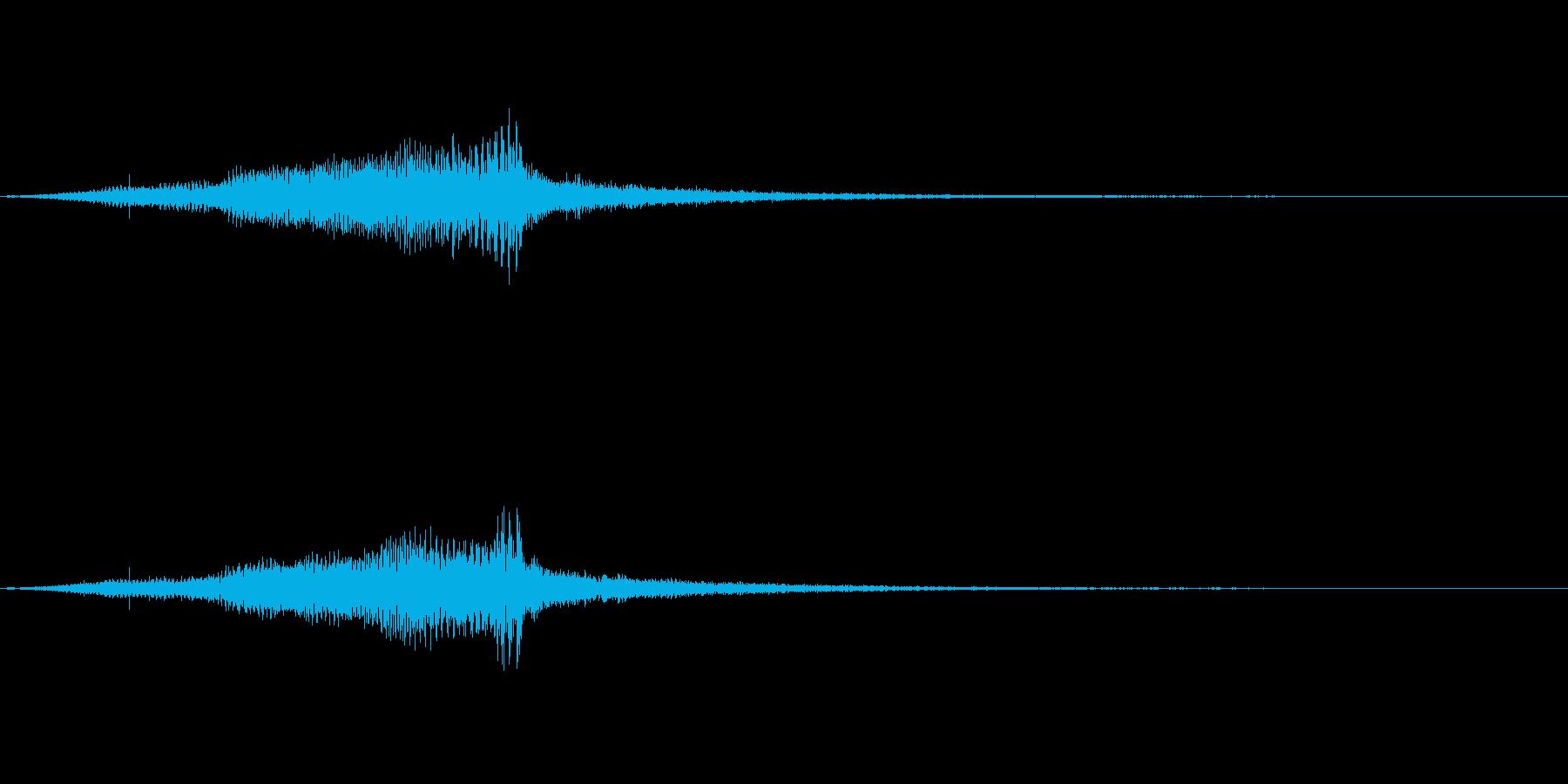 ビーム・レーザー等の効果音(低めの音)の再生済みの波形