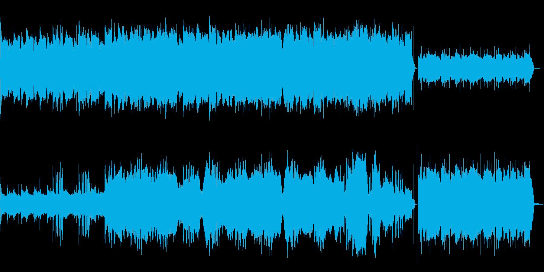 ホラー映画のオープニングのような曲の再生済みの波形