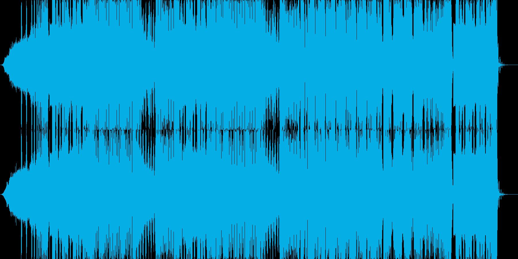 攻撃的なDubstepの再生済みの波形