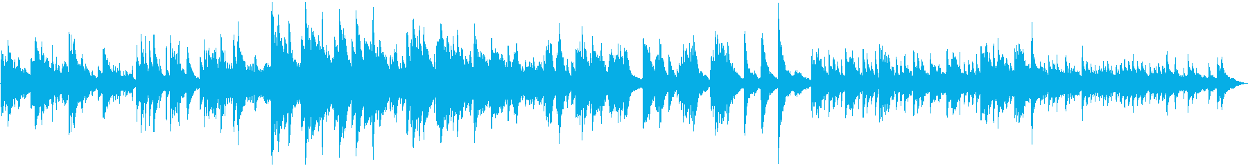優しい、落ち着いた雰囲気の曲です。の再生済みの波形