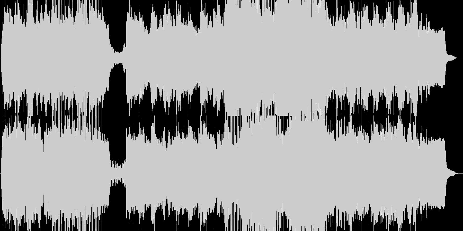 ピアノがメインのゆっくりとした感傷的な曲の未再生の波形
