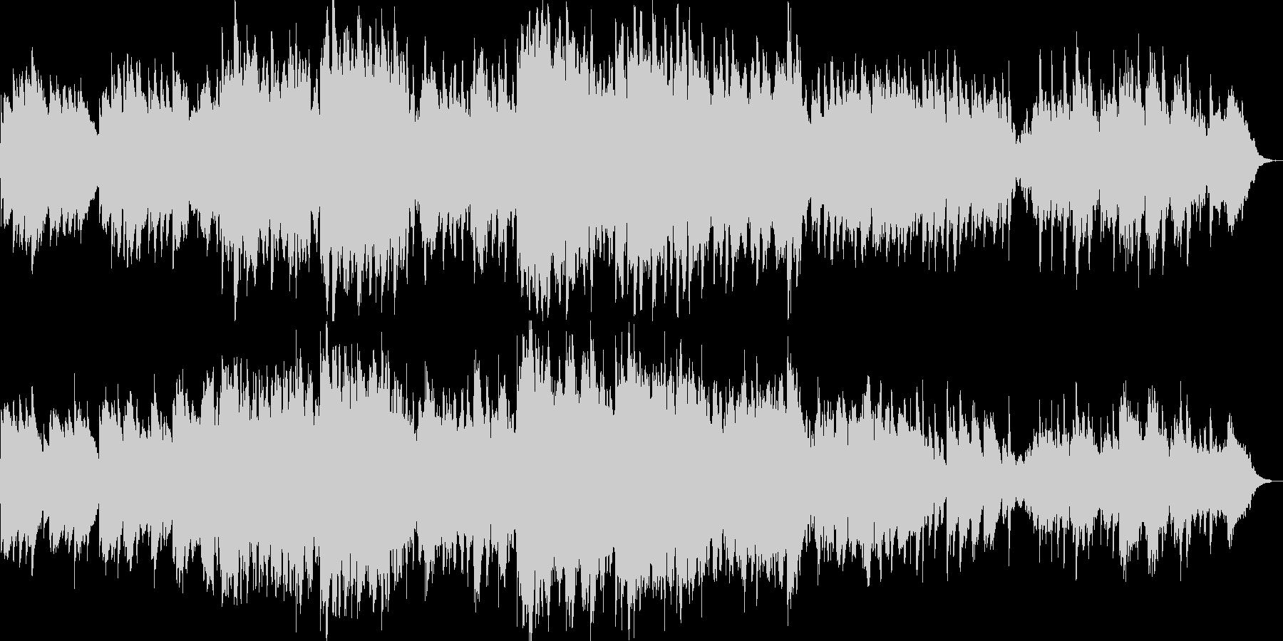可愛らしい音色のゆったりリラクゼーションの未再生の波形