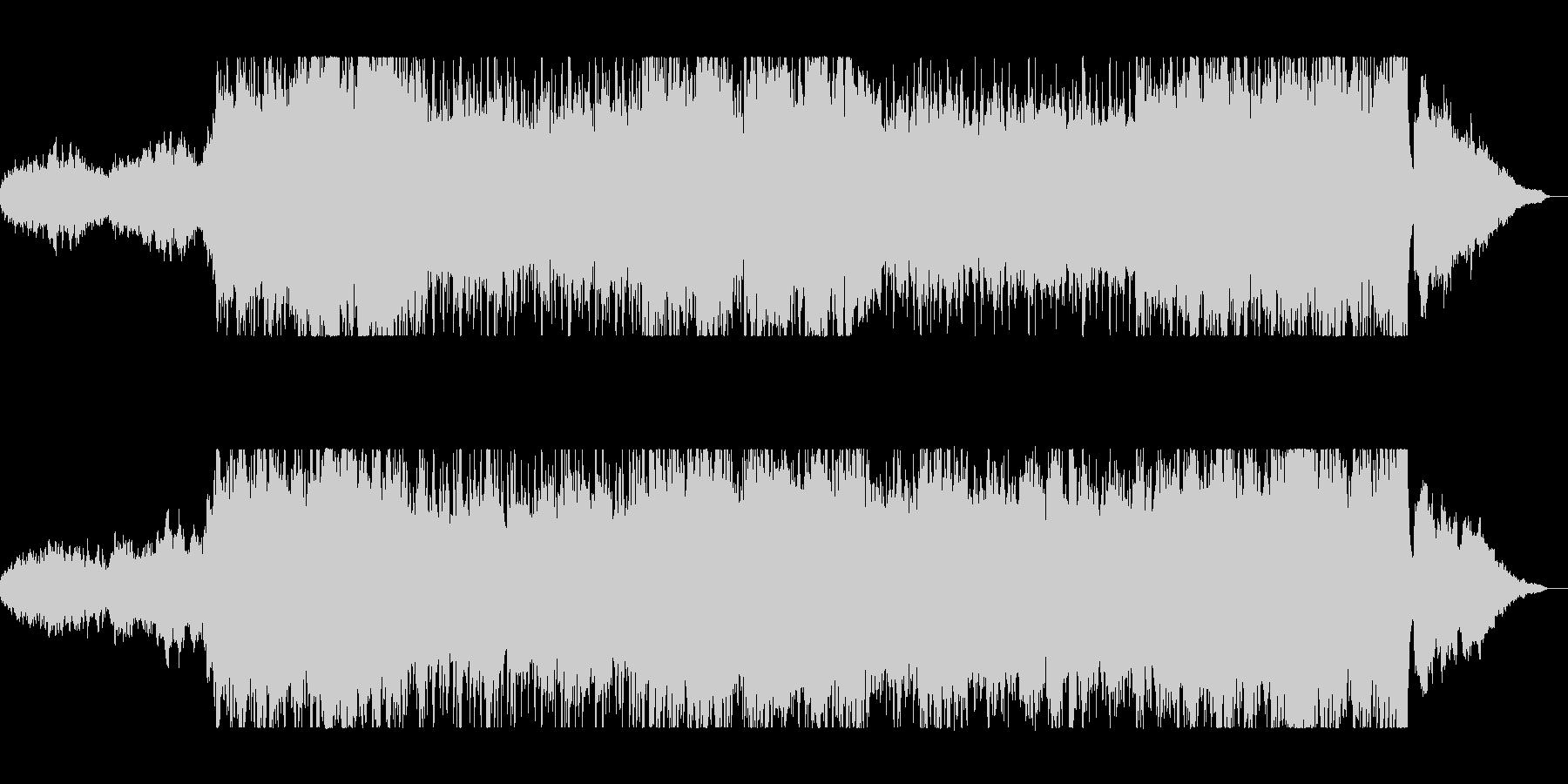 勢いと華やかな管弦楽器ピアノサウンドの未再生の波形