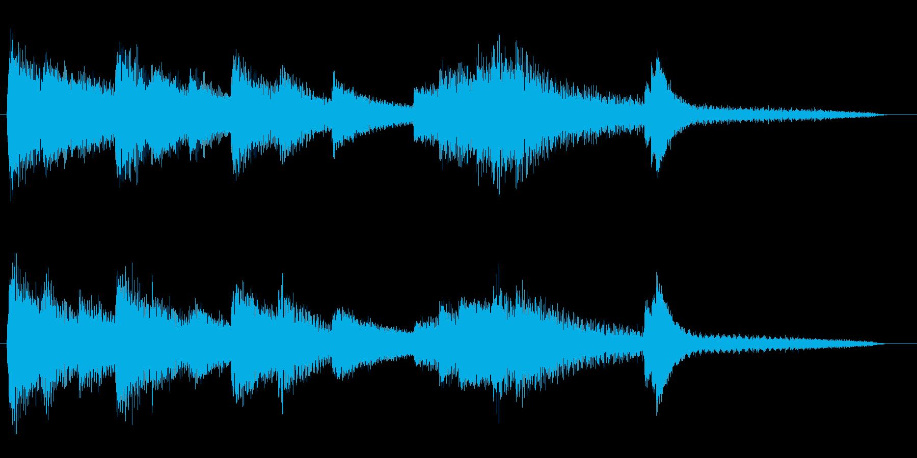 ジャズピアノのショートジングルの再生済みの波形