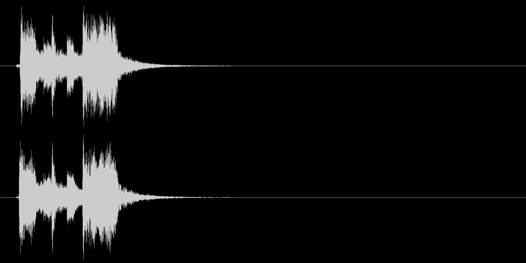 キラキラポップジングルの未再生の波形