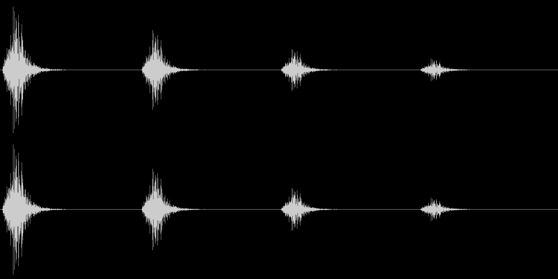 レトロゲームの「足音」「階段の昇降」の未再生の波形