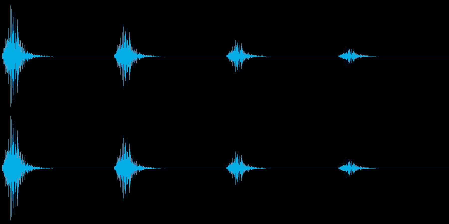 レトロゲームの「足音」「階段の昇降」の再生済みの波形