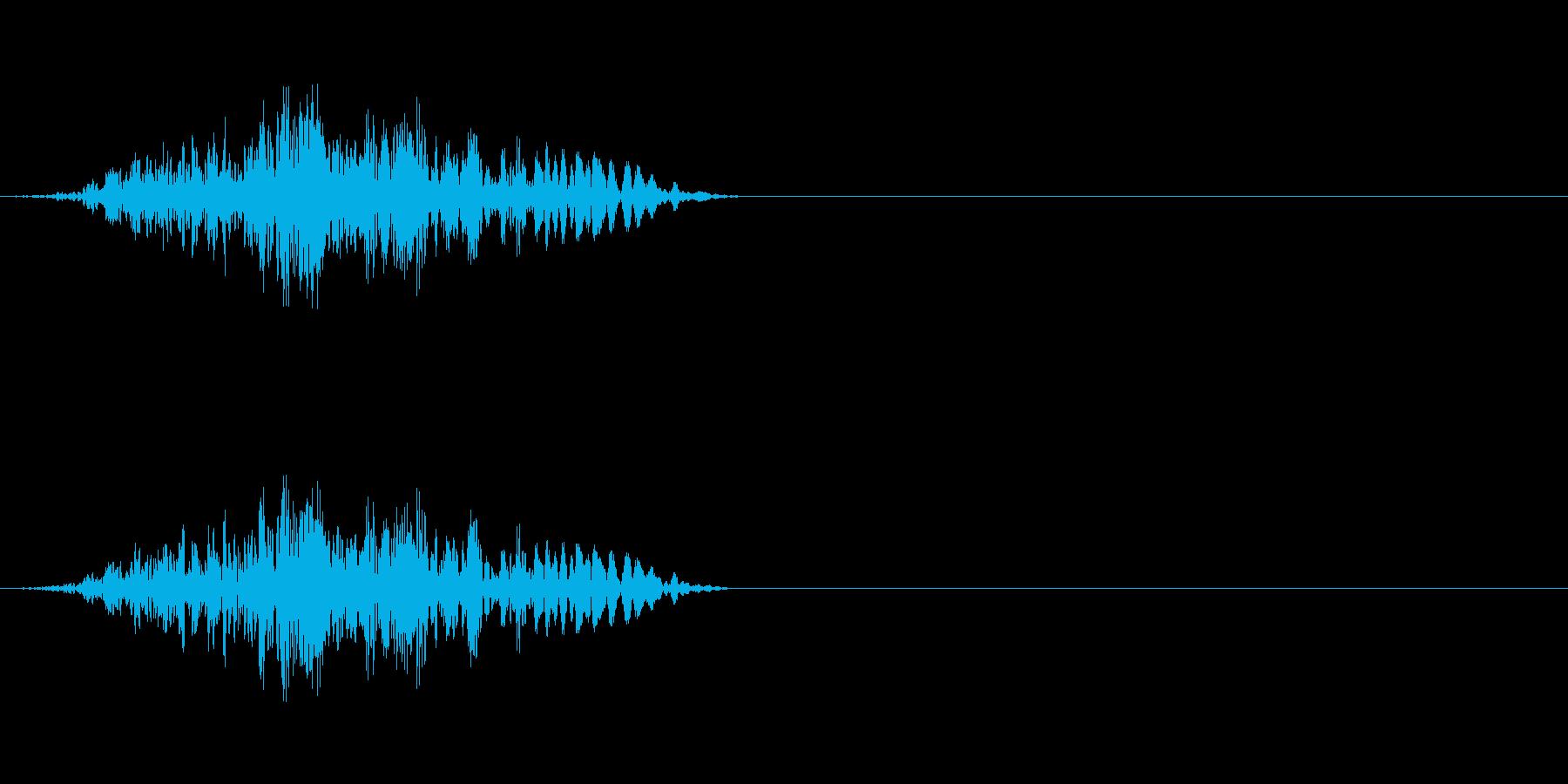 モンスター(発声)の再生済みの波形