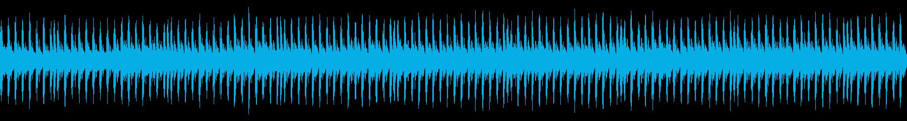 緊迫感のある場面でのBGMなどにの再生済みの波形