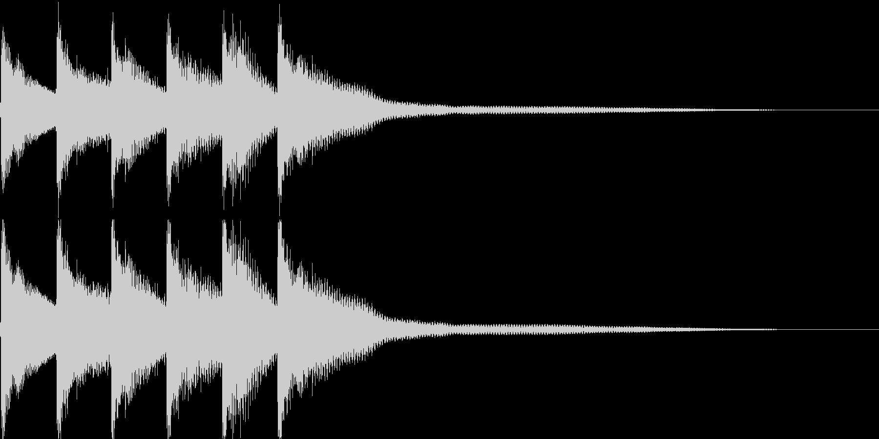 クイズ正解音(ピンポン)1の未再生の波形