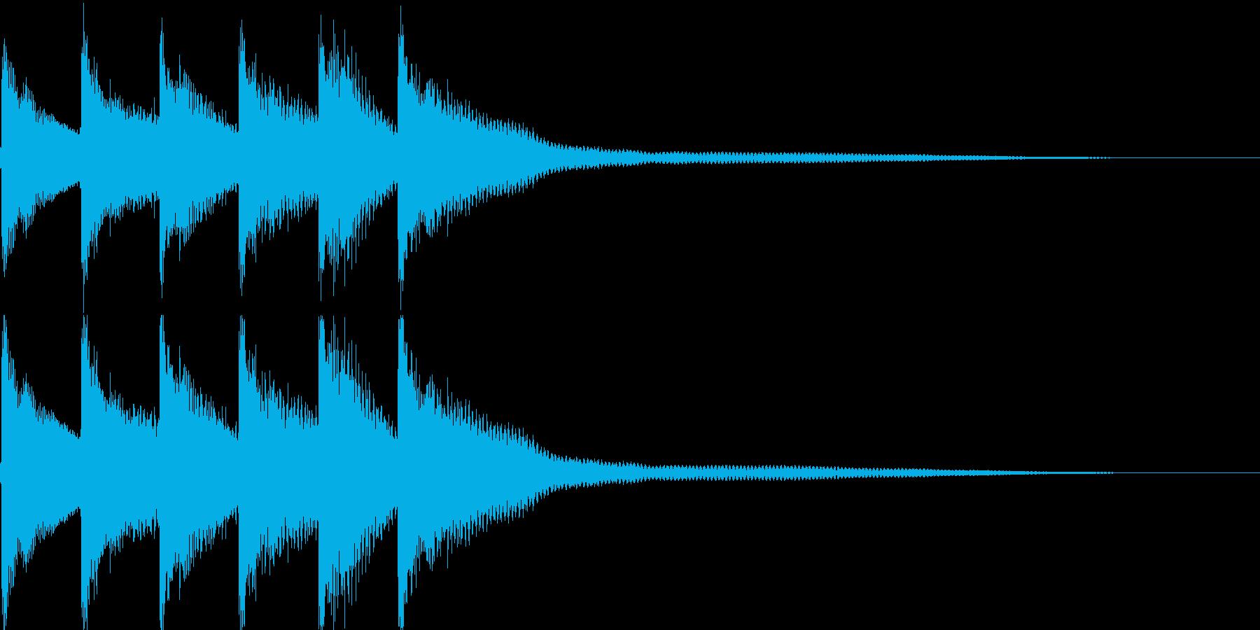クイズ正解音(ピンポン)1の再生済みの波形