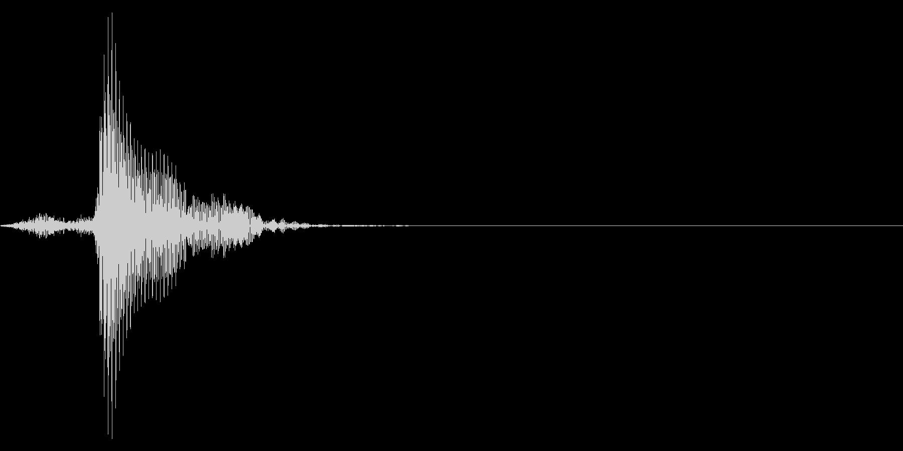 ゲーム掛け声男1フッ1の未再生の波形