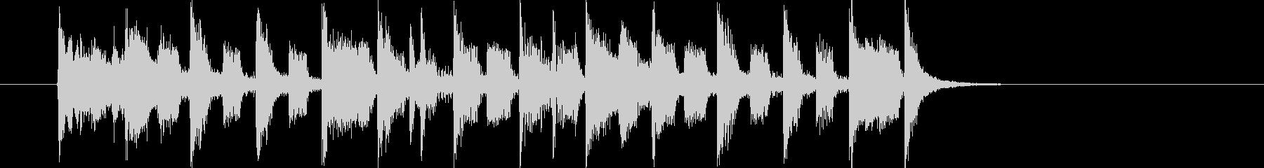 軽快なメロディの洋楽ポップス調の未再生の波形