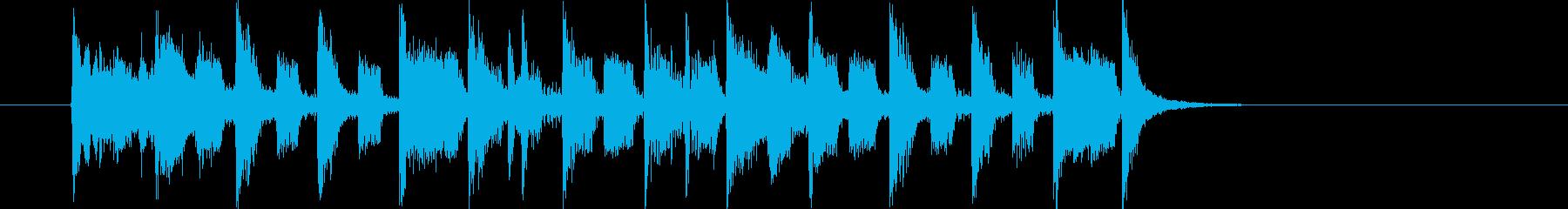 軽快なメロディの洋楽ポップス調の再生済みの波形